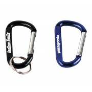 Keytags Carabiner Metal w/Split Ring Pad Printed